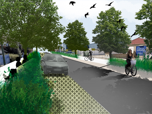 Green/Blue corridor proposal in Argales: Street proposal