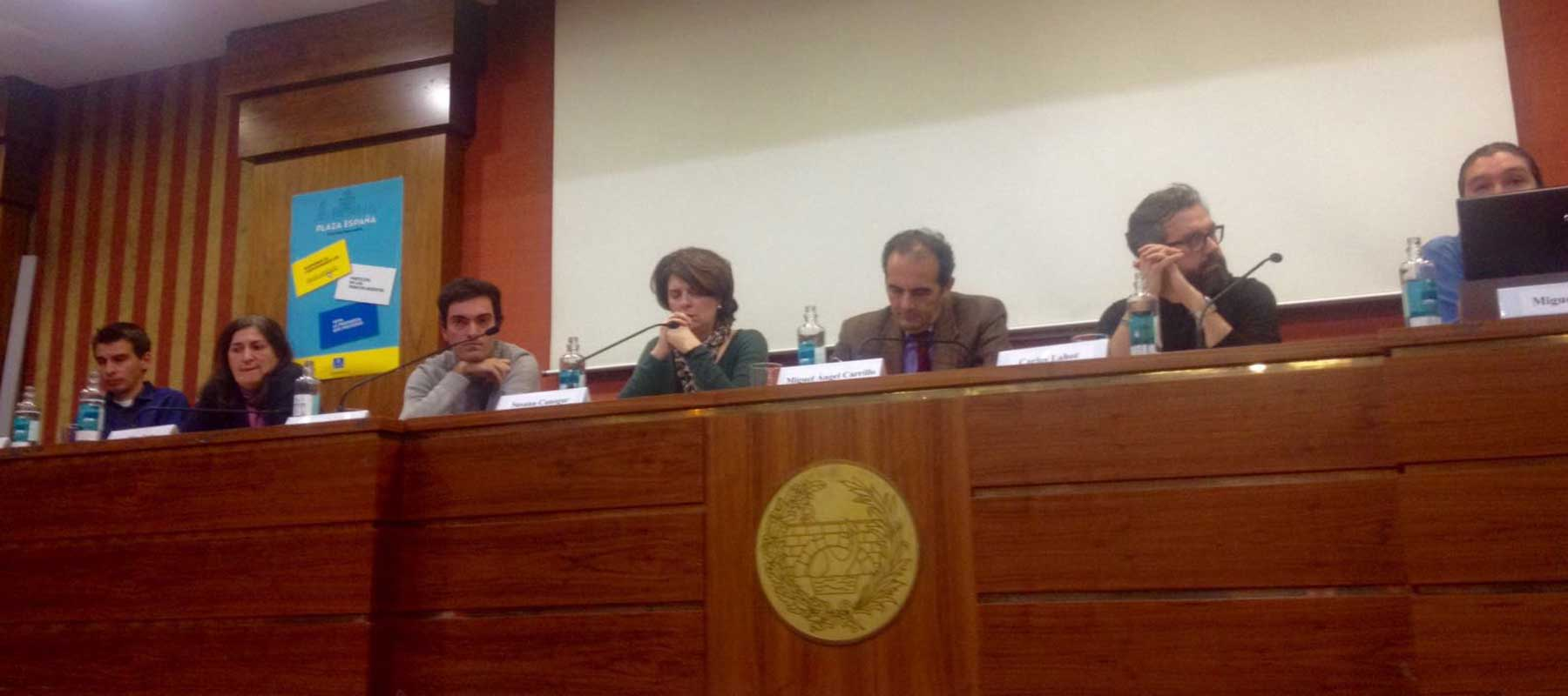 "Susana Canogar participates in the public debate ""Plaza de España: Mobility, Environment and Energy"""