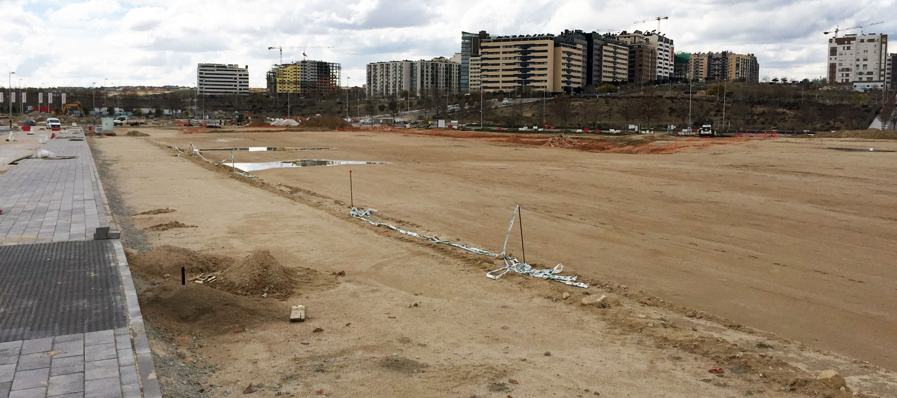 Park construction suspended in areas affected by court ruling annuling Valdebebas Special Plan.